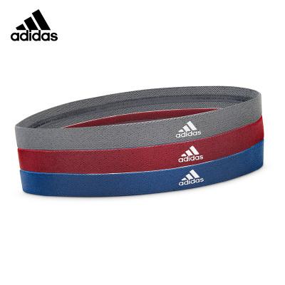 adidas阿迪达斯运动发带男女头箍篮球网球健身护额束发带防汗跑步吸汗运动头巾3个装