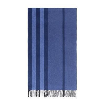 BURBERRY 博柏利 男女通用款格纹羊绒围巾 80045591