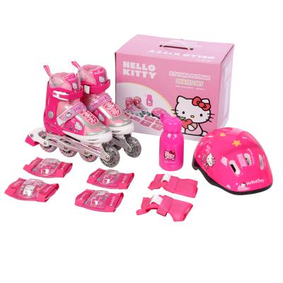 Hello kitty/凯蒂猫儿童套装男女可调溜冰鞋 迪士尼轮滑鞋 儿童旱冰鞋 户外轮滑2011系列