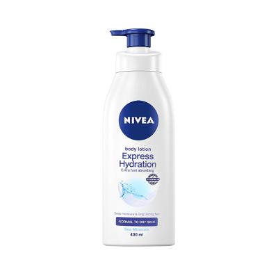 妮维雅(NIVEA) 水润清透润肤乳液 400ml 身体润肤乳
