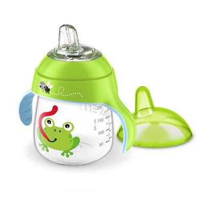 飞利浦AVENT 水杯 新安怡宝宝卡通企鹅杯260ML PP材质 适用年龄 12月+(绿色)SCF753/39