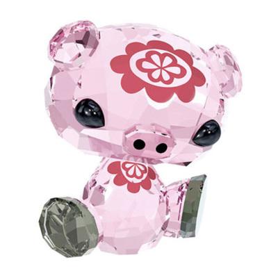 【假一罚十】SWAROVSKI施华洛世奇新款水晶小猪猪摆件十二生肖正品 自用送礼奥地利人造宝石琉璃生日礼物饰品