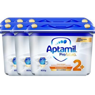 6罐装|德国产爱他美 安心罐 白金版 双重HMOs Aptamil海外 幼儿配方奶粉2+段 5段 2岁及以上800G