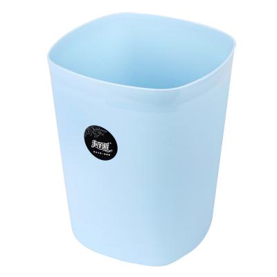 美丽雅maryya 炫彩塑料垃圾桶方形(中) 5.5L 纸篓