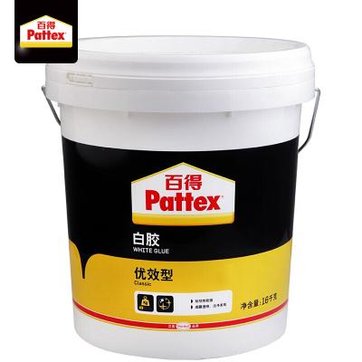 汉高百得(Pattex)白胶木工白胶白乳胶手工胶粘接性能强成膜透明环保型胶水 优效型PXWG16C 16kg【厂家直送】