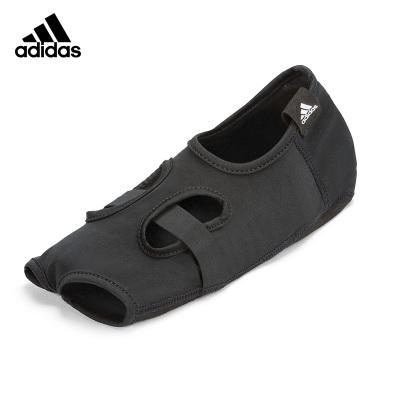 Adidas阿迪达斯瑜伽袜子女士 防滑露趾露背舞鞋设计松紧瑜珈袜运动袜透气吸汗