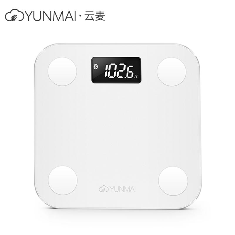 云麦(YUNMAI)好轻mini智能家用体脂称健康秤白色 29项身体数据测量 精准测脂肪称体重 最大称量150KG 重量0.9KG