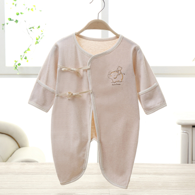 亿婴儿 彩棉婴儿连体衣蝴蝶衣婴儿衣服新生儿内衣2010