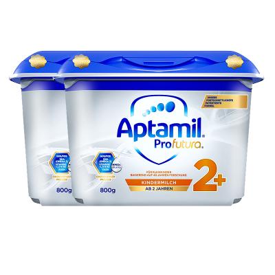 2罐装|德国产爱他美 安心罐 白金版 双重HMOs Aptamil海外 幼儿配方奶粉2+段 5段 2岁及以上800G